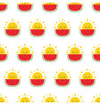 seamless pattern with sun character and watermelon vector image vector image