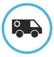 Service Car Flat Rounded Icon vector image