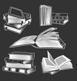 set books vector image vector image