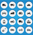 set of 16 editable shipment icons includes vector image vector image
