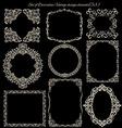 Set of Vintage Decorative frames on blackboard vector image vector image
