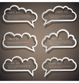 set speech bubbles from paper outline vector image vector image