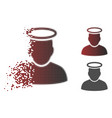 shredded pixel halftone holy man icon vector image vector image