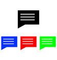 speech bubble glyph icon vector image