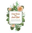 square floral design frame garden flower creamy vector image vector image