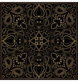 Square gold pattern vector image vector image