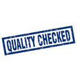 square grunge blue quality checked stamp vector image vector image