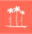 summer handwritten word and palms vector image vector image
