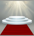 transparent realistic effect red carpet and round vector image