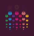 tulip design vector image vector image