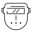 welder plastic mask icon outline style vector image vector image