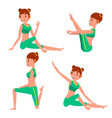 yoga female in action meditation vector image