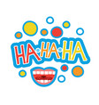 laugh sticker chat message label icon colorful vector image