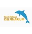 logo dolphinarium vector image