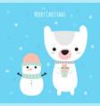 merry christmas cute christmas greeting card vector image