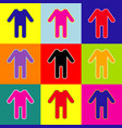 baby clothes sign pop-art style colorful vector image