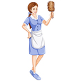 A house servant vector image vector image