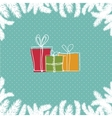 A pile of colorful Christmas gift boxes vector image