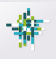 abstract geometric shape from blue green and vector image vector image