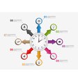 Abstract infographic with arrows and clock in the vector image vector image