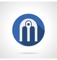 Arched composition blue round icon vector image vector image