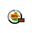 black friday discount 90 percentage vector image vector image