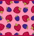 blackberry and strawbeerry seamless pattern vector image vector image