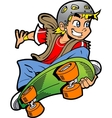 Boy Doing Skateboard Jump vector image vector image
