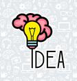 Bright Idea vector image vector image