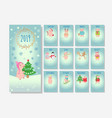 calendar with christmas holiday piglets vector image