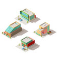 car salon showrooms building isometric vector image vector image