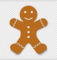 christmas gingerbread man cookie vector image