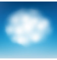 cloud on blue sky eps 10 vector image vector image