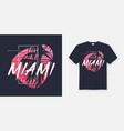colors miami beach graphic tee design vector image vector image