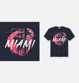 colors of miami beach graphic tee design vector image vector image