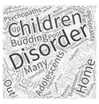 Conduct Disorder Word Cloud Concept vector image vector image