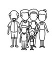 cute family people together members vector image vector image