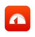 dome tent icon digital red vector image vector image