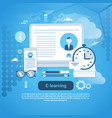 e-learning education online concept web banner vector image vector image