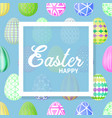 easter eggs multicolored vector image