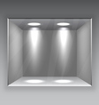 Empty Store Shelf vector image vector image