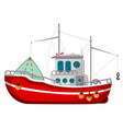 fishing boat icon industrial water transport vector image vector image