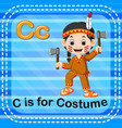flashcard letter c is for costume vector image vector image