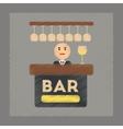 flat shading style icon bar bartender vector image vector image