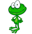 fun frog cartoon vector image