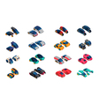 Futuristic Cars Isometric Icons Set vector image vector image