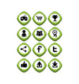 game asset icon sign symbol button vector image vector image