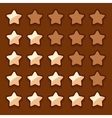 Game wooden web rating stars set vector image