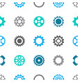 gear wheels seamless pattern vector image vector image