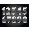 Golden numbers set vector image vector image